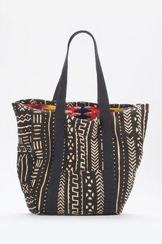 Osei Duro Partare Bogolan Tote - Black and White | #garmentory
