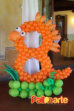 numero con palloncini tema dinosauro compleanno numero con palloncini  tema dinosaurio cumpleaños number with balloons  dinosaur birthday theme