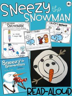Sneezy the Snowman Lesson Plans. #Snowmenbooks