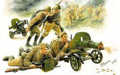 ARMATA ROSSA - Artiglieri con Maxim 1943-1945. Andrey Karashchuk