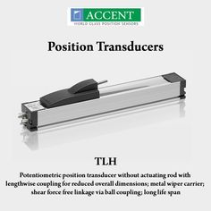 TLH Potentiometric position transducer without actuating rod with lengthwise coupling for reduced overall dimensions, metal wiper carrier, shear force free linkage via ball coupling, long life span #AccentSensors #PositionTransducers #TLH #switches Visit - http://www.accentsensors.com/