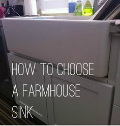 things to consider when choosing a farmhouse sink for your remodeling project.
