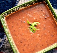 (Panera Bread) Black Bean Soup - add tomatoes, cilantro and additional can of black beans; also add chili powder and a little red pepper. Bean Soup Recipes, Healthy Soup Recipes, Cooking Recipes, Eat Healthy, Yummy Recipes, Simply Recipes, Fast Recipes, Entree Recipes, Side Recipes