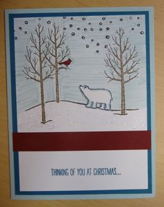 White Christmas  www.stampingwithlinda.com Make sure to check out my Stamp of the Month Kit Linda Bauwin – CARD-iologist  Helping you create cards from the heart.