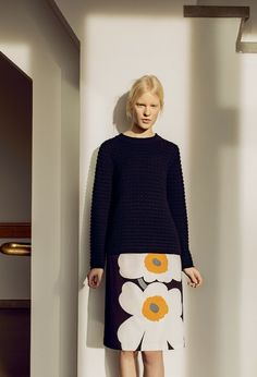 Marimekko 2015 Autumn Ready to Wear Slow Fashion, Autumn Fashion, Marimekko Dress, Fashion Outfits, Casual Outfits, Mode Inspiration, Bodies, Ready To Wear, Knitting