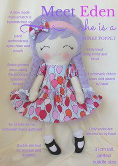 Eden, a handmade doll from Precious Little Poppets www.facebook.com/PreciousLittlePoppets