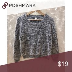 Super Soft Cropped Furry Sweater Super soft, stylish and comfy. Slightly cropped. In perfect condition!! Sweaters Crew & Scoop Necks