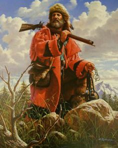 Wyoming Trapper by Alfredo rodriguez Mountain Man Rendezvous, Mountain Art, Trekking, Native American Images, American Frontier, Historical Art, Le Far West, Guy Pictures, Cool Paintings