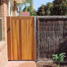 Timber Gates Adelaide Made with Western Red Cedar. Timber Gates, Wooden Gates, Cedar Gate, Garden Gates And Fencing, Western Red Cedar, Entrance Gates, Outdoor Furniture, Outdoor Decor, Garden Ideas