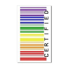 Certified Rainbow Barcode-side Sticker (Rectangle)