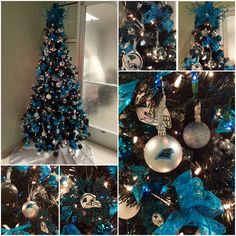 Carolina Panthers Christmas Tree #KeepPounding