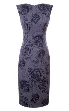 Rose-Print Fitted Dress by Thom Browne - Moda Operandi