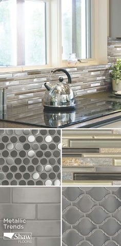 Shaw's Mega Trend, Metallic Finishes, is a metallic look that can bring sleek and modern to just about any aspect of your home. From flooring to back splash and everything in between, check out Shaw's metallic options for your home.