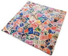 Vintage Wrapping Paper - Assorted Stamps Gift Wrap - Full Sheet