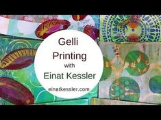 Learn the techniques and tips for Gelli Printing! Join the VIP Room for the full series on Gelli Plate Printing including binding the pages to an art . Art Journal Pages, Art Journaling, Gelli Plate Printing, Gelli Arts, Plate Art, Tampons, Fabric Painting, Art Tutorials, Art Lessons