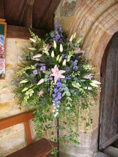 Ideas wedding church flowers pedestal altars for 2019 Large Flower Arrangements, Flower Arrangement Designs, Alter Flowers, Large Flowers, Church Wedding Flowers, Funeral Flowers, Flower Festival, Deco Floral, Kirchen
