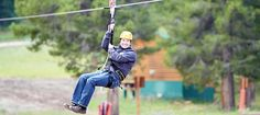 Zip Lining during the summer at Breck