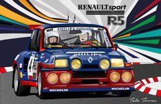 El garage de Gina Monster Alpine Renault, Automobile, Turbo Car, Car Posters, Car Drawings, Top Cars, Illustrations, Car Painting, Rally Car