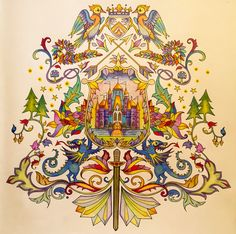 Coat Of Arms Johanna Basford Enchanted Forest