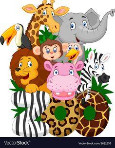 Free Jungle Animal Clip Art vector illustration of wild