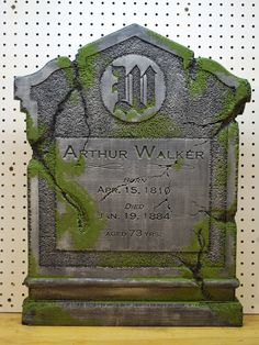 Another great example of a well made DIY tombstone. Includes a brief tutorial.