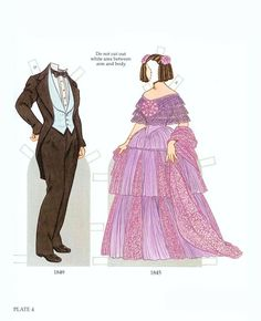 Early Victorian Costumes Paper Dolls by Tom Tierney (4 of 10), Dover Publications   Gabi's Paper Dolls