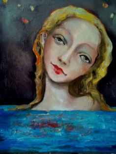 """Water Saves Her.   """"When the whirlwind of my thoughts sucks me out of my body and into the air, when I am fevered and fire-brained and anxious, when I am lost, I go to the water , and it brings me home....back to the self that lives each day with gratitude and wonder.""""  Artist Cassandra Barney <3"""