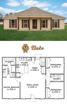 Blake Floor Plan Living Sq Ft: 1,302 Bedrooms: 3 Baths: 2 Louisiana  Lafayette