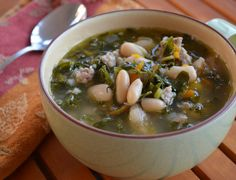 Italian, White Bean, and Kale Soup: a tasty and hearty soup.