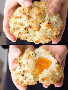 Soft-boiled eggs baked in a biscuit. It's magical & delicious!