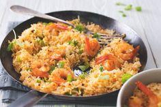 Cajunská smažená rýže s krevetami