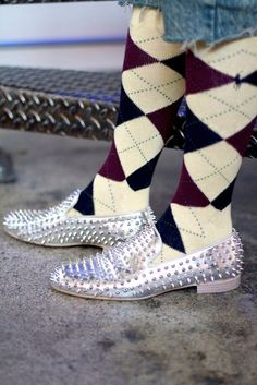 9633cd1623f Ralph Lauren socks  amp  Louboutin loafers on Taz Arnold for StyleLikeU   style  mensfashion