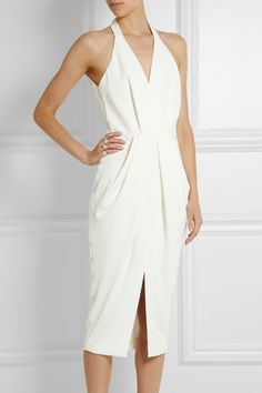Dion Lee|Open-back textured-crepe midi dress|NET-A-PORTER.COM