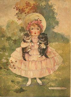 "Agnes Richardson's back cover illustration for ""Told in the Sunshine"", Raphael Tuck & Sons Ltd., c.1928."