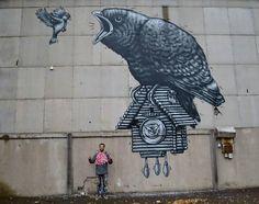 """Street art """"Nälkä kasvaa syödessä"""" by Jukka Hakanen in Turku"""