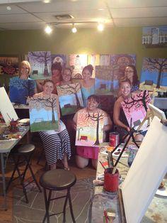 Park Bench paint party Yourartparty.com Phoenix AZ Your Art Party
