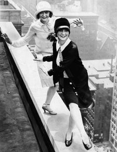 Flappers Dancing the Charleston atop the Sherman Hotel, Chicago, 1926