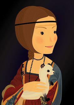 La dame à l'hermine. Illustration