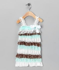 Take a look at this Seaside Darling Ruffle Romper - Infant by Baby Lace Rompers on #zulily today!