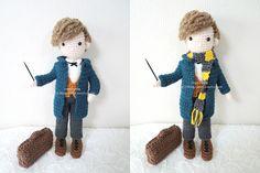 Crochet, Crochet Doll, Newt Scamander, Fantastic Beasts and Where to Find Them, 코바늘인형, 신비한 동물사전, 뉴트 스캐맨더