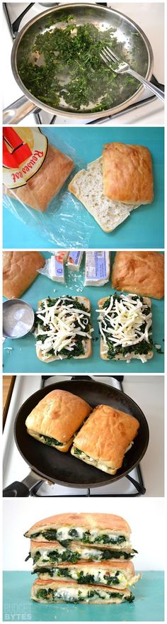 Spinach Feta GrilledCheese Sandwich. No red pepper!