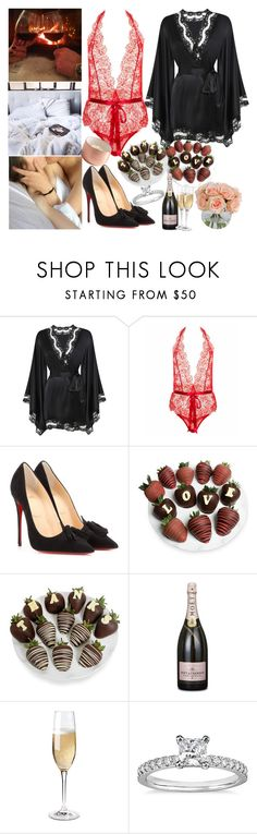 """thanks my love💑🔥💖"" by ally-xcv ❤ liked on Polyvore featuring Agent Provocateur, L'Agent By Agent Provocateur, Christian Louboutin, Chocolate Covered Company, Wine Enthusiast, Blue Nile and allyxcv"