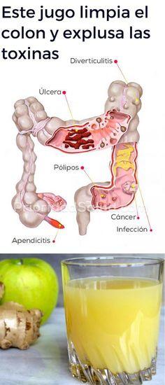 Limpieza de colon con este jugo verde d. Explusa las toxinas del cuerpo, ayuda a mejorar la salud y perder peso. Holistic Remedies, Natural Home Remedies, Health Remedies, Detox Drinks, Healthy Drinks, Healthy Tips, Health And Wellness, Health And Beauty, Natural Colon Cleanse