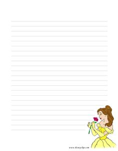 Stationarybelle1 595x765 Linda Dugan Disney Character Lined Stationery