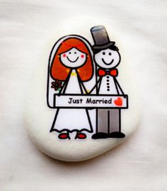 Design your own Wedding pebble by stOrystOneslou on Etsy, £2.50