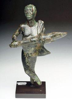 Bronze Figural Oil Lamp, Rome, 1st century BCE-CE.