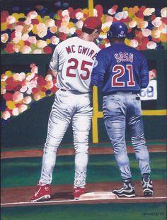 """""""1998 Homerun Race - McGwire & Sosa"""" by Bernie Hubert"""