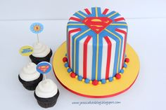 Superman Cake - I made this cake for a sweet friends son who turned 5!  All decor is modeling chocolate.  Thanks for looking!