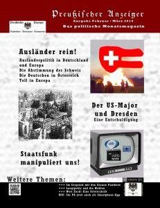 Preußischer Anzeiger - das politische Monatsmagazin - Ausgabe Feb März 2014