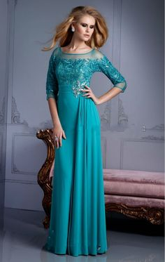 teal mother of bride dress - Google Search